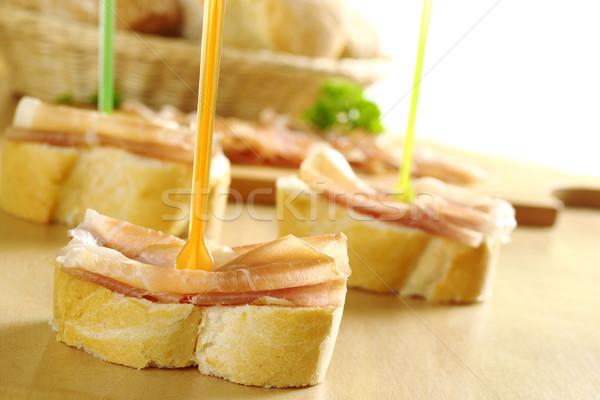 Baguette with Ham Stock photo © ildi