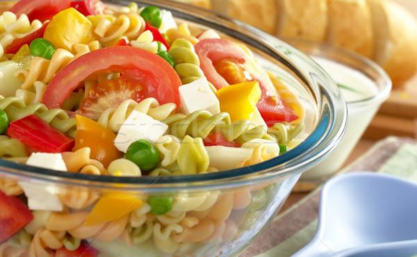 パスタ サラダ 新鮮な野菜 トマト ピーマン キュウリ ストックフォト © ildi