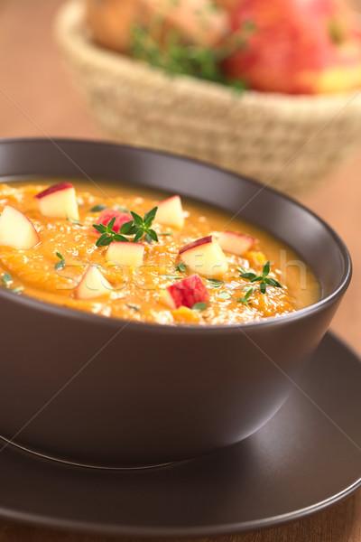 édesburgonya alma leves tál friss házi készítésű Stock fotó © ildi