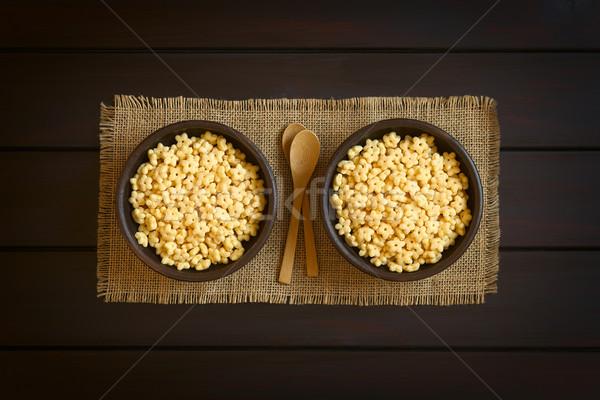 Honing ontbijtgranen rustiek kommen klein houten Stockfoto © ildi