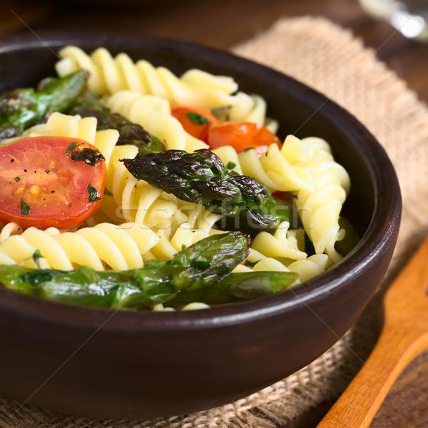 アスパラガス トマト パスタ サラダ 緑 ストックフォト © ildi