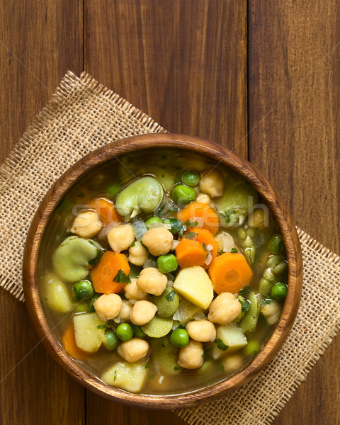 Chickpea Vegetable Soup Stock photo © ildi