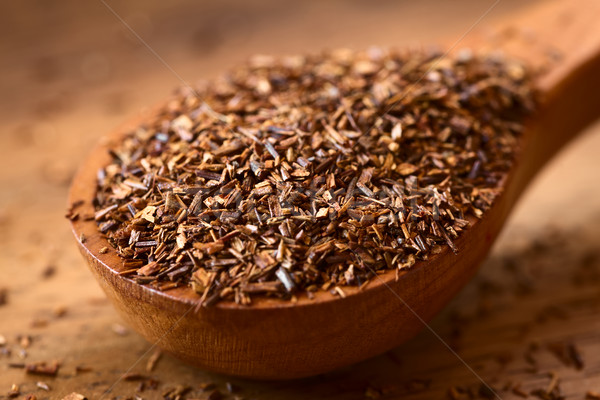 Gyógynövény tea fakanál fa természetes fény szelektív fókusz fókusz Stock fotó © ildi