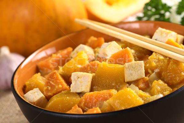 豆腐 カボチャ サツマイモ カレー 選択フォーカス フォーカス ストックフォト © ildi