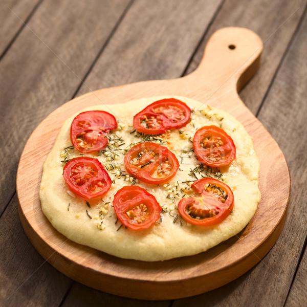 トマト 自家製 酵母 スライス ストックフォト © ildi