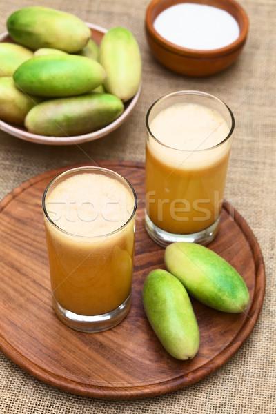 Fresh Juice Made of Banana Passionfruit (lat. Passiflora Tripartita) Stock photo © ildi
