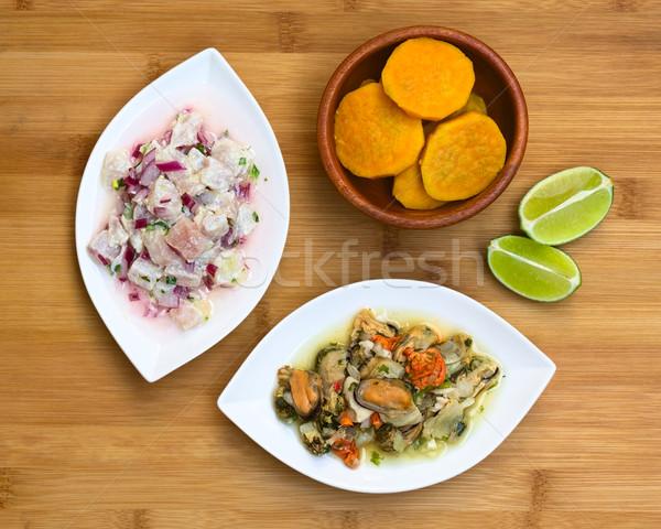 Fish and Shellfish Ceviche Stock photo © ildi