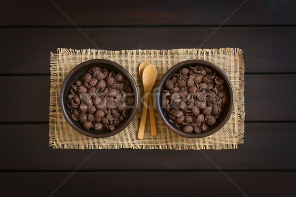 Chocolate Corn Flakes Breakfast Cereal Stock photo © ildi