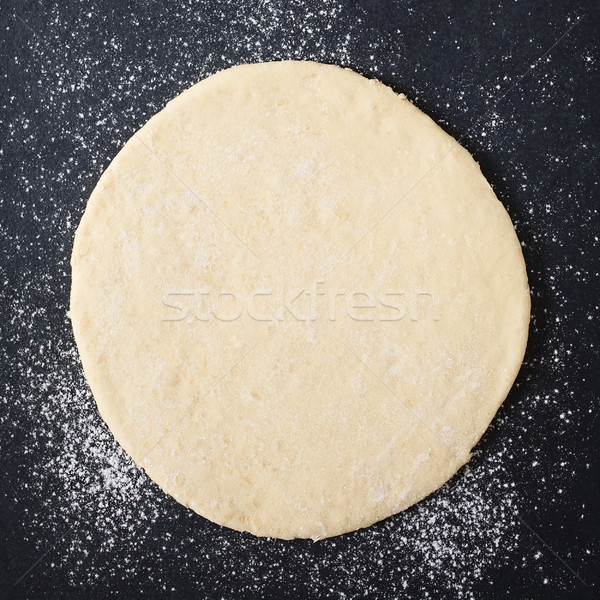 Rolled Out Pizza Dough Stock photo © ildi