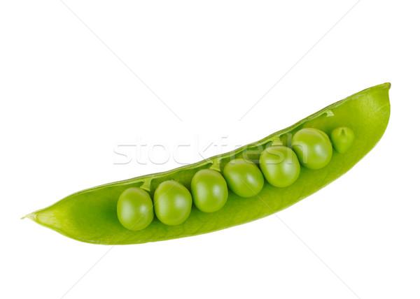 Vaina chícharos blanco comestibles aislado uno Foto stock © ildi