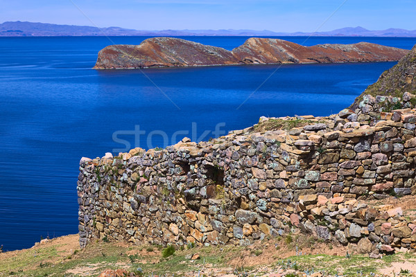 Chinkana Archeological Site on Isla del Sol in Lake Titicaca, Bolivia Stock photo © ildi