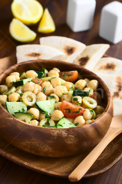 Chickpea Salad Stock photo © ildi