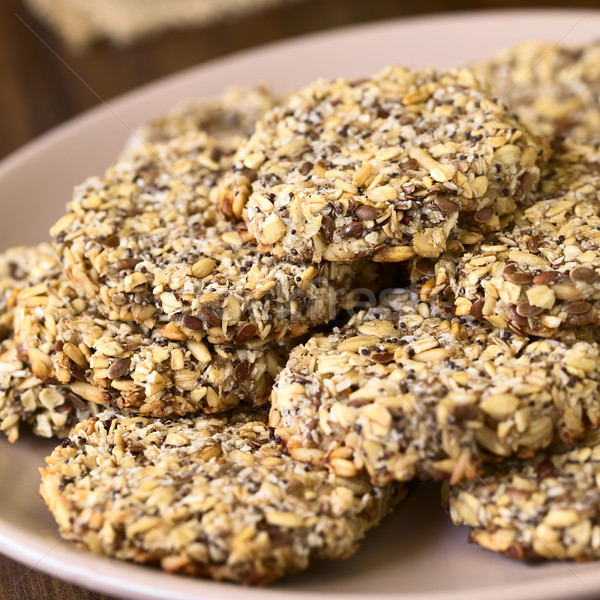 Stock photo: Vegan Oatmeal and Banana Cookies