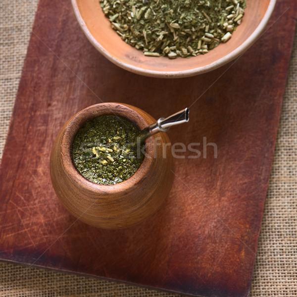 メイト 茶 木製 カップ 自然光 ストックフォト © ildi