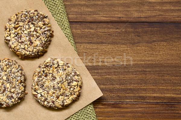 Vegan banane cookies avoine Photo stock © ildi