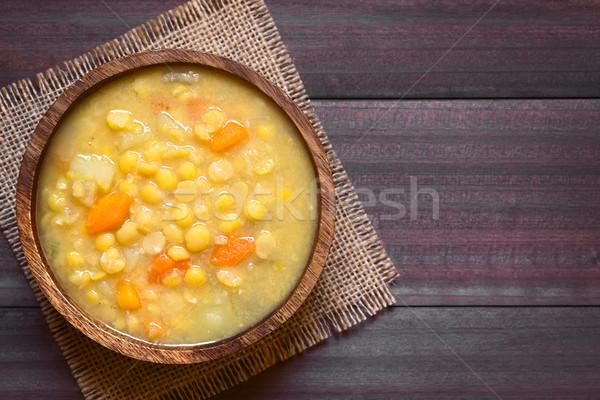 Yellow Split Pea and Vegetable Soup Stock photo © ildi