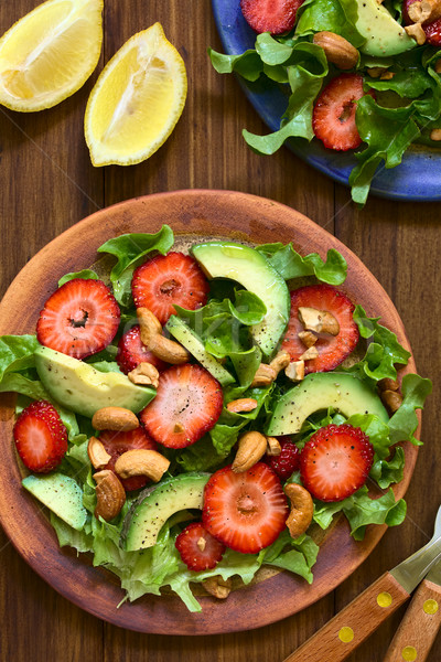 Strawberry, Avocado, Lettuce Salad Stock photo © ildi