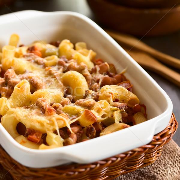 Chili con Carne and Pasta Casserole Stock photo © ildi