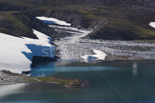 Córrego lago montanha norte escandinávia água Foto stock © ildi