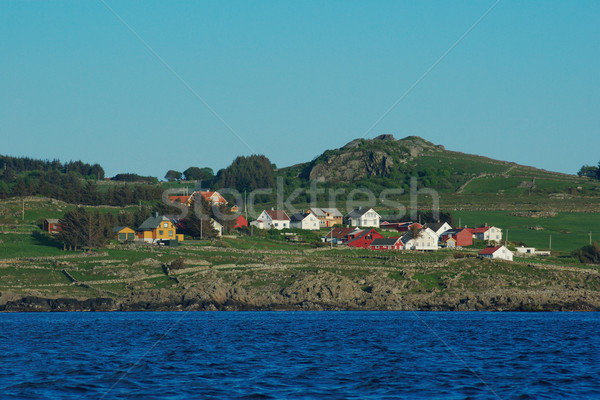Coastal Settlement in Southern Norway Stock photo © ildi