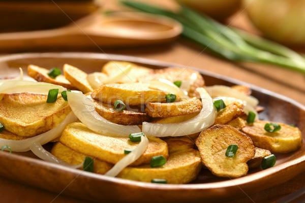 Fried Potato with Onion Stock photo © ildi