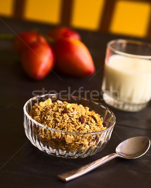 朝食用シリアル 外に 燕麦 ふすま ごま ストックフォト © ildi