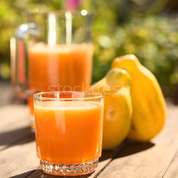 сока стекла подготовленный плодов назад Сток-фото © ildi