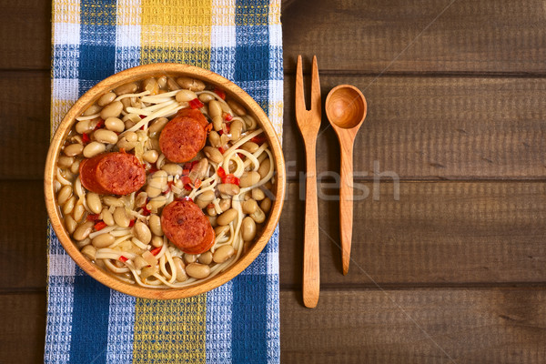 Chilean Dish Called Porotos con Riendas Stock photo © ildi