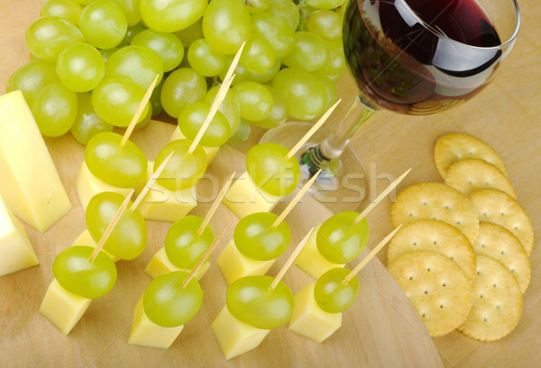 Cheese with Grapes as Fingerfood Stock photo © ildi