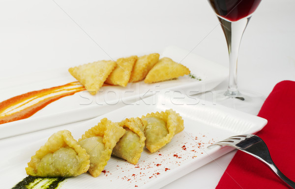 Appetizer: Empanada with Wine Stock photo © ildi