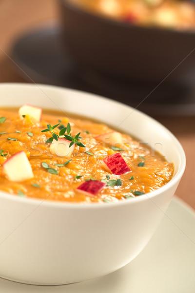 Patata dolce mela zuppa due fresche Foto d'archivio © ildi