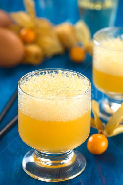 Peruvian Cocktail Called Aguaymanto (Physalis) Sour Stock photo © ildi