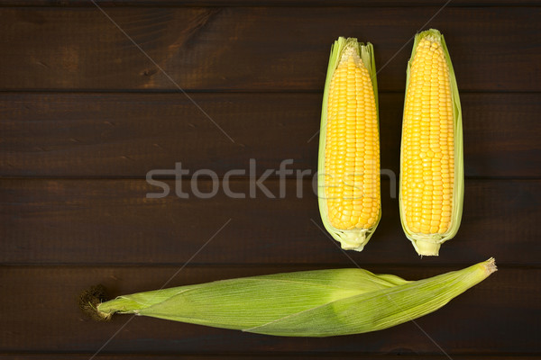 Cobs of Sweet Corn Stock photo © ildi