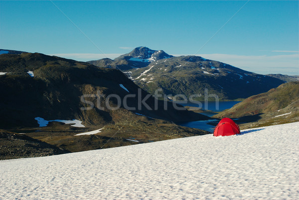 Red Tent on Snow Stock photo © ildi