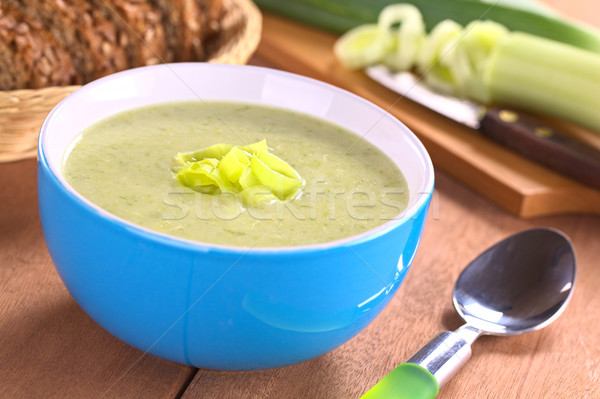 Leek Soup Stock photo © ildi