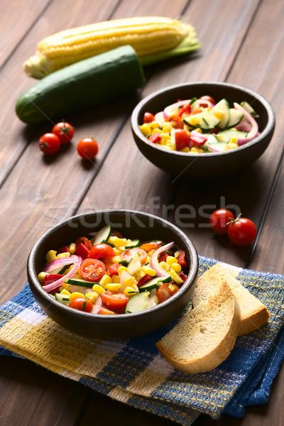 Insalata pomodorini cetriolo Foto d'archivio © ildi