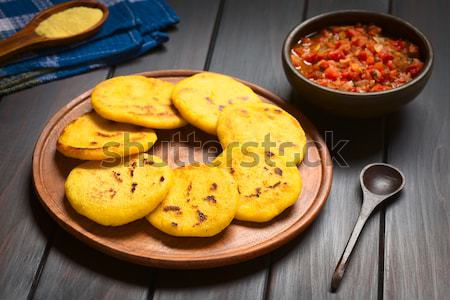 Colombian Arepa with Hogao Sauce Stock photo © ildi