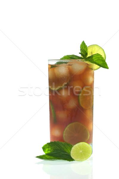 Buzlu çay dışarı siyah çay Stok fotoğraf © ildi