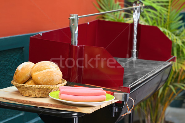 Preparing a Barbecue Stock photo © ildi