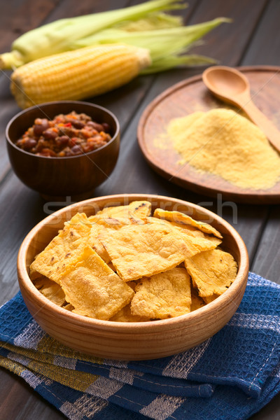 Homemade Baked Corn Chips Stock photo © ildi