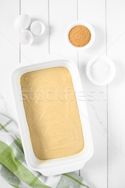 Cake Dough in Baking Dish Stock photo © ildi