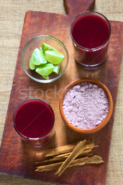Bolivian Purple Corn Beverage Called Api Stock photo © ildi