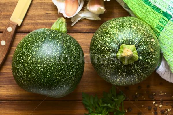 Raw Round Zucchini Stock photo © ildi