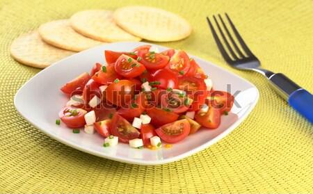Cherry Tomato and Cheese Salad Stock photo © ildi