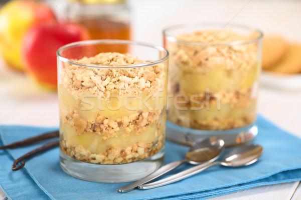 Manzana torta simple vainilla cookie Foto stock © ildi