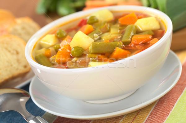 Zuppa fagioli verdi carota patate rosso Foto d'archivio © ildi