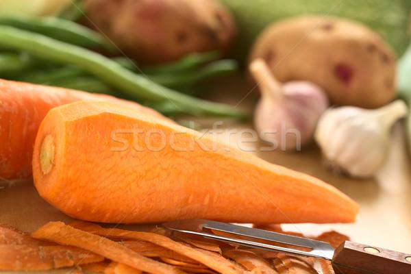 Peeling Carrots Stock photo © ildi