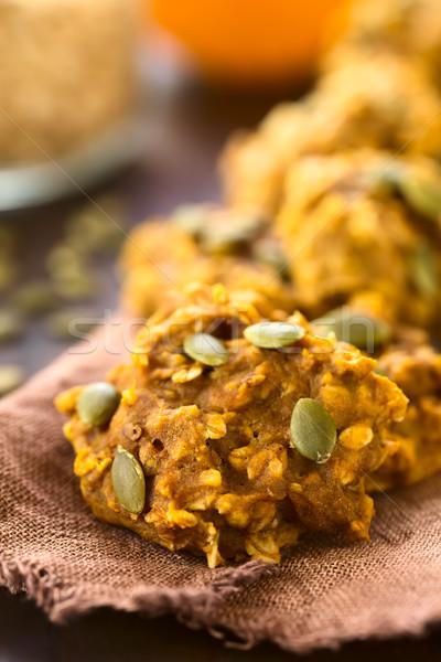 Pumpkin and Oatmeal Drop Cookies Stock photo © ildi