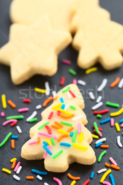 Homemade Sprinkled Sugar Cookie for Christmas Stock photo © ildi