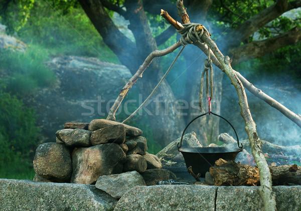 Cooking in Caldron Stock photo © ildi